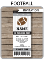 Black and Gray Silver Football Party Ticket Invitation - DIY Editable & Printable Invitation Template - INSTANT DOWNLOAD $7.50 via simonemadeit.com