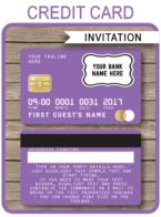 Credit Card Invitations template – purple