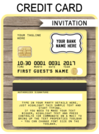 Credit Card Invitations template – yellow