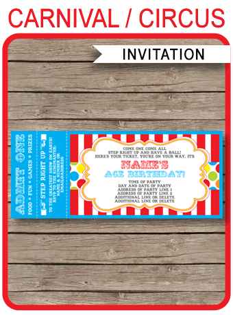 carnival tickets template