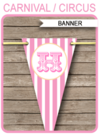 Carnival Party Banner template – pink/yellow