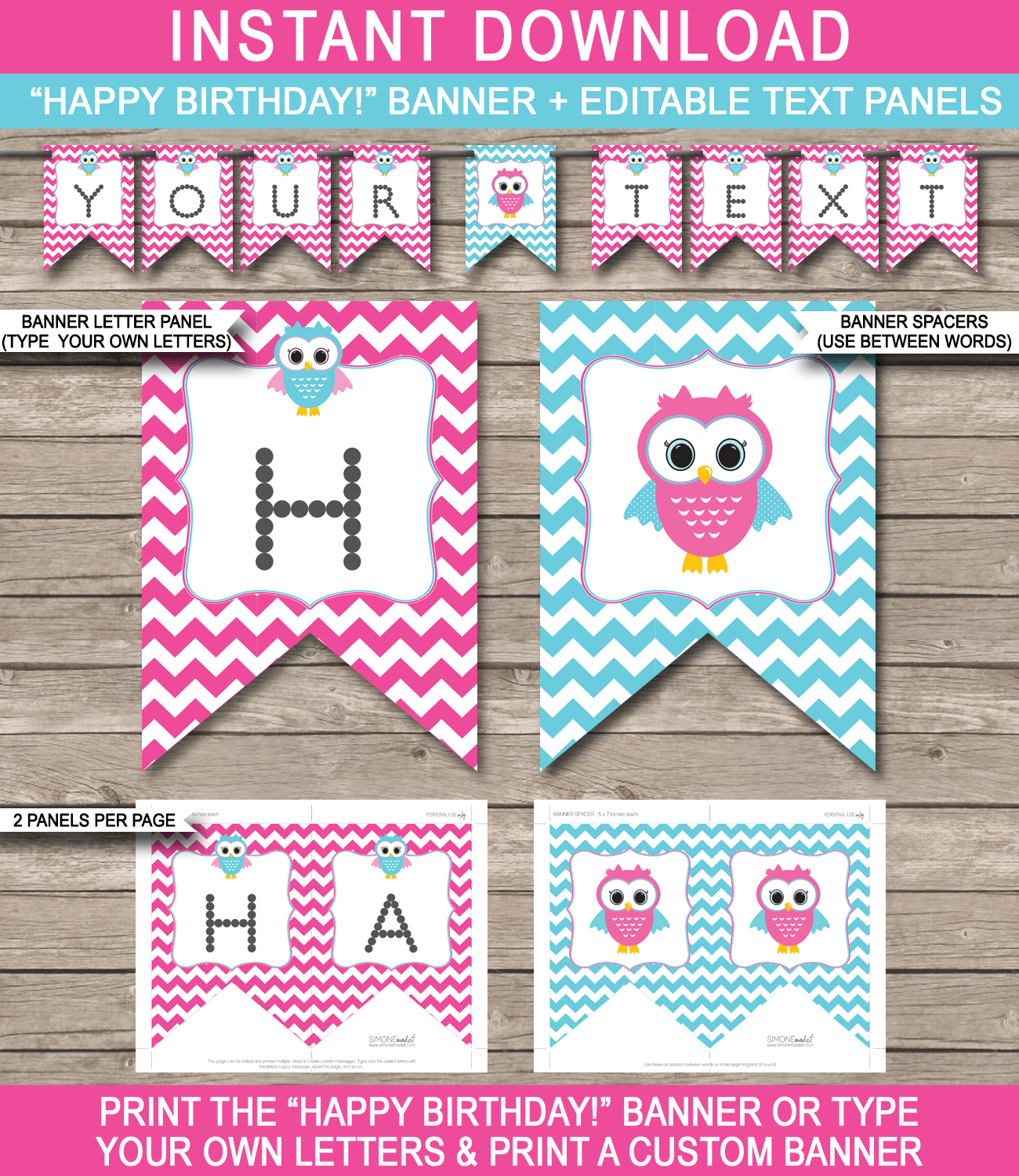 picture about Free Birthday Banner Printable known as Owl Bash Banner template crimson