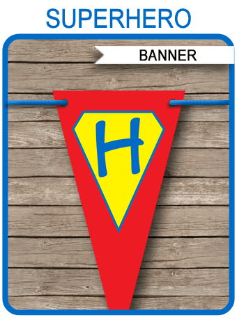 Superhero Party Banner Template | Birthday Banner ...
