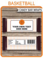 Basketball Hershey Candy Bar Wrappers template
