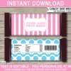 Aqua & Pink Carnival Candy Bar Wrappers