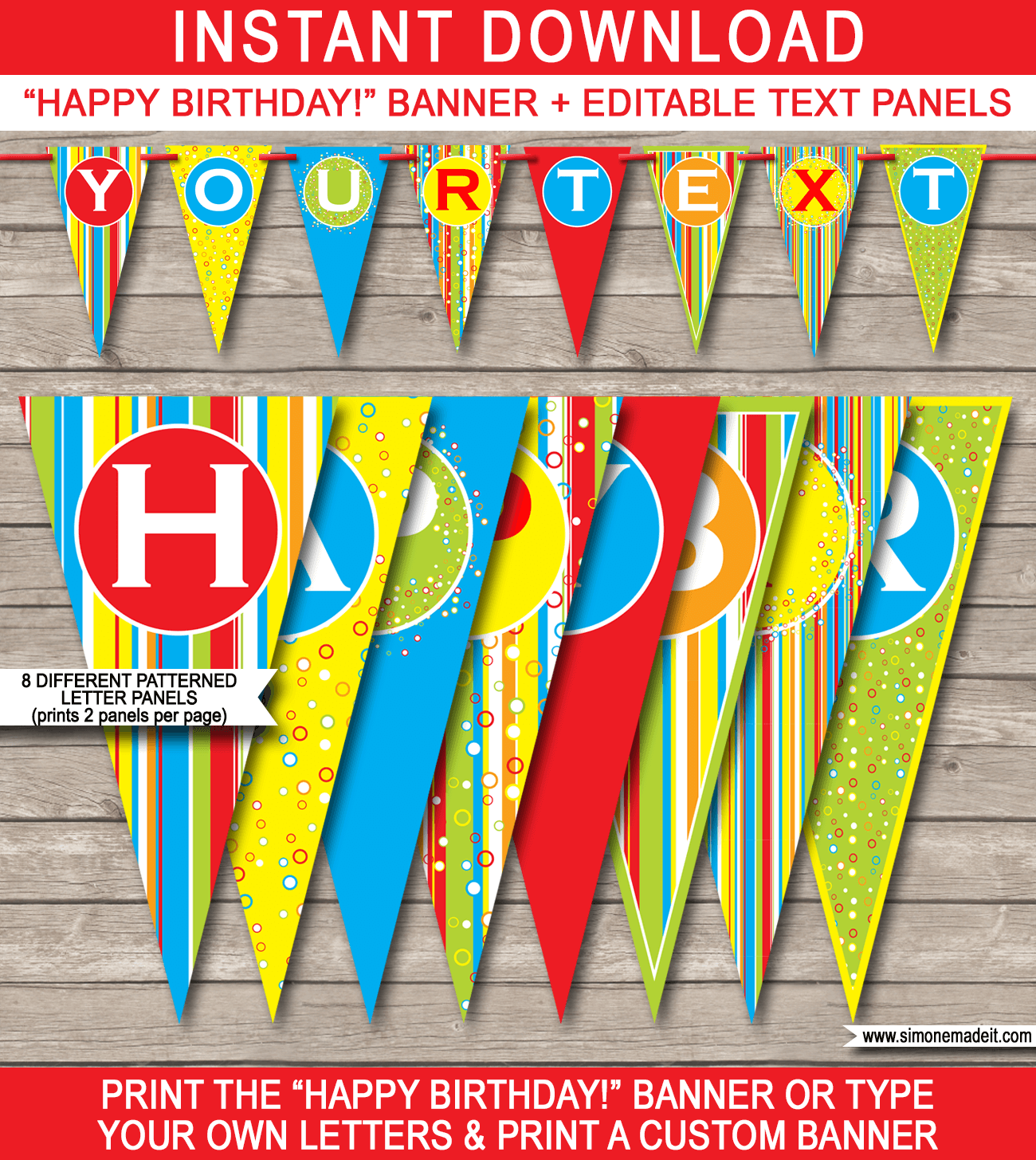 Colorful-Happy-Birthday-Pennant-Banner-Bunting-1 Letter Template Winter Theme on sample business, sample request, basic cover,