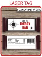Laser Tag Hershey Candy Bar Wrappers | Lazer Tag | Birthday Party Favors | Personalized Candy Bars | Editable Template | INSTANT DOWNLOAD $3.00 via simonemadeit.com