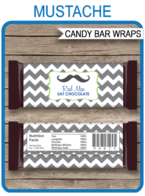 Mustache Hershey Candy Bar Wrappers | Little Man| Birthday Party Favors | Personalized Candy Bars | Editable Template | INSTANT DOWNLOAD $3.00 via simonemadeit.com