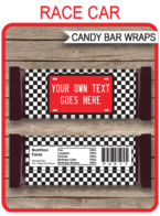 Race Car Hershey Candy Bar Wrappers | Birthday Party Favors | Personalized Candy Bars | Editable Template | INSTANT DOWNLOAD $3.00 via simonemadeit.com