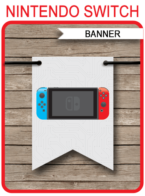 Nintendo Switch Pennant Banner template