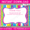 Candyland Thank You Notes