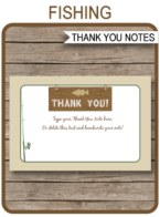 Fishing Party Thank You Cards template