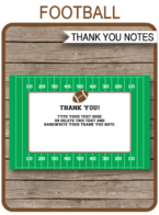 Printable Football Party Thank You Notes - Favor Tags - Football Birthday Party theme - Editable Template - Instant Download via simonemadeit.com