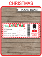 Printable Surprise Trip to London Boarding Pass Gift | London Trip Reveal | Christmas Gift Plane Ticket | Surprise Trip, Getaway, Holiday, Vacation | Christmas Present | Fake Plane Ticket | DIY Editable & Printable Template | Instant Download via simonemadeit.com