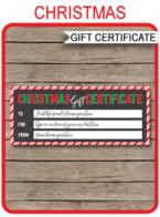 Christmas Gift Certificate Template – chalkboard