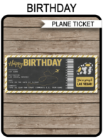 Surprise birthday Trip to Las Vegas Boarding Pass | Las Vegas Trip Reveal | Fake Plane Ticket to Las Vegas | Birthday Present | Gold Glitter & Chalkboard | DIY Editable & Printable Template | Instant Download via simonemadeit.com