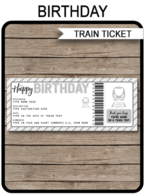 Surprise Birthday Train Trip Boarding Pass | Fake Train Ticket | Train Trip Reveal Announcement | Silver Glitter | Birthday Gift | DIY Editable & Printable Template | Instant Download via simonemadeit.com
