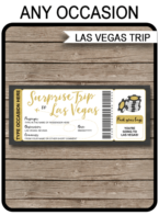 Any Occasion Surprise Trip to Las Vegas Template – gold & chalkboard