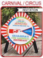 Carnival Spinner Wheel Invitation Template – colorful
