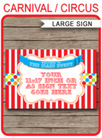 Carnival Welcome Sign – 11×17 inch + A3 – colorful