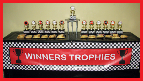Race Car Birthday Party trophy favors